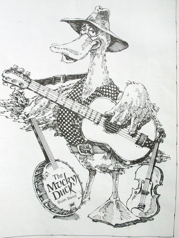 Mucky Duck Bush Band Perth Logo
